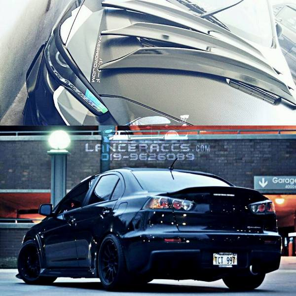 Ducktail spoiler abs material for Lancer Inspira EvoX