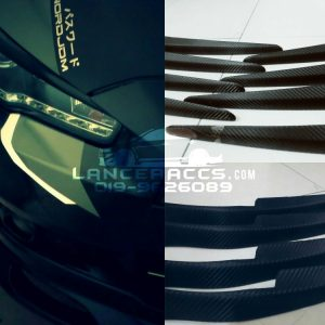 Headlamp eyelid , cf pattern lancer inspira