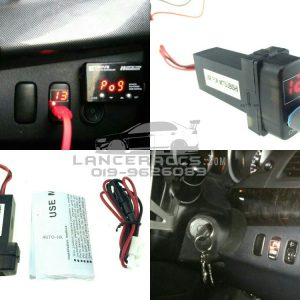 Display you car battery real voltage Fast charging your gadgets (USB port)