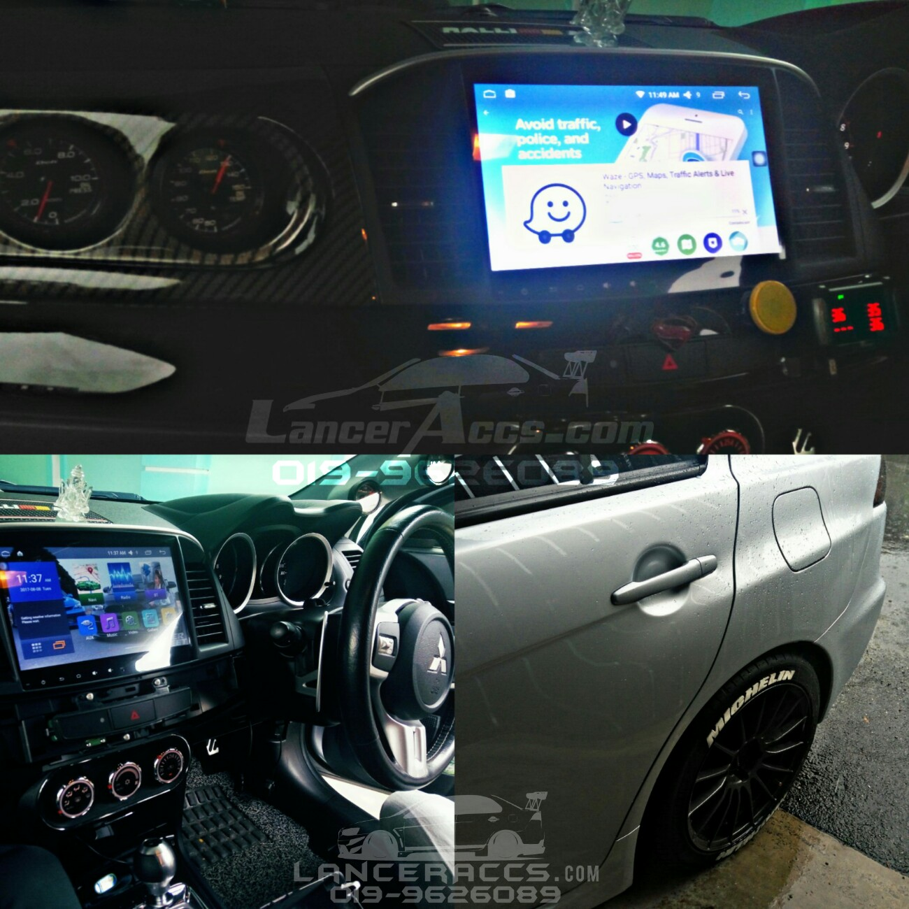 10 2 Inch Android Head Unit Player Lancer Inspira EvoX