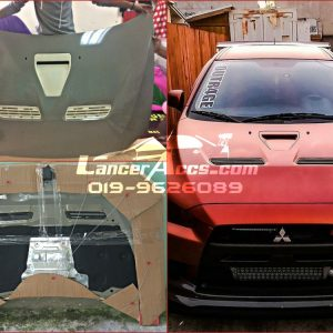 Lancer Evo X Hood Carbon Steel FRP fit Lancer Inspira Perfect!
