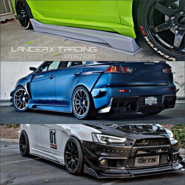 Varis Side Skirt For Mitsubihi Lancer Proton Inspira